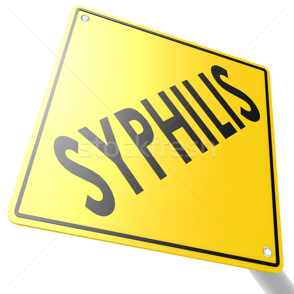 Road sign with syphilis Stock photo © tang90246