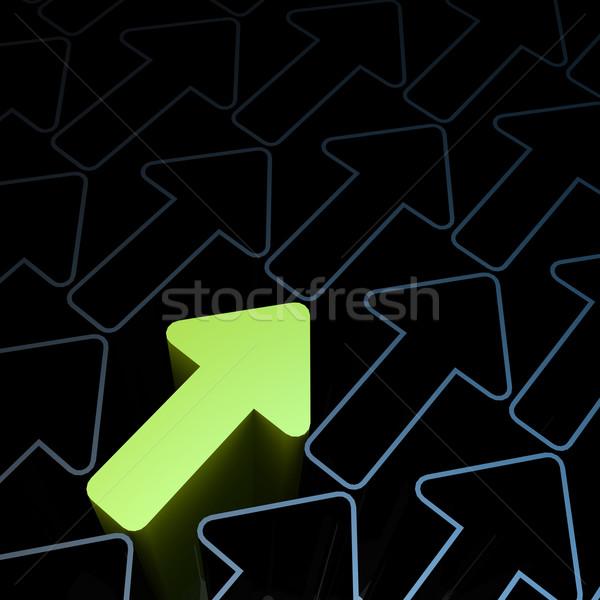 зеленый стрелка роста изображение оказанный Сток-фото © tang90246