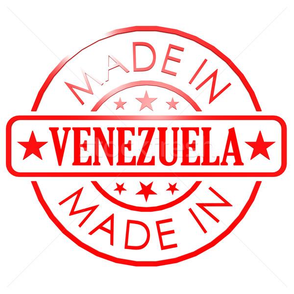 Venezuela Rood zegel business papier ontwerp Stockfoto © tang90246