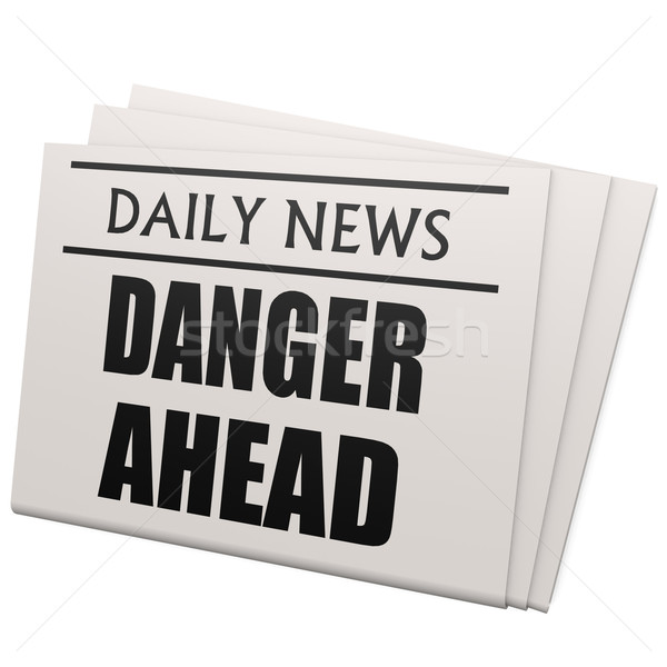 Newspaper danger ahead Stock photo © tang90246
