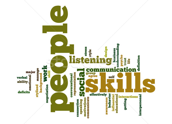 People skills word cloud Stock photo © tang90246