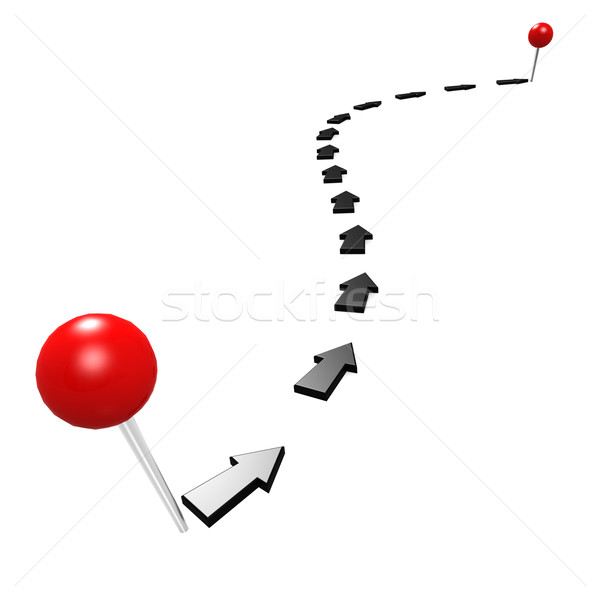 Round pin black path Stock photo © tang90246