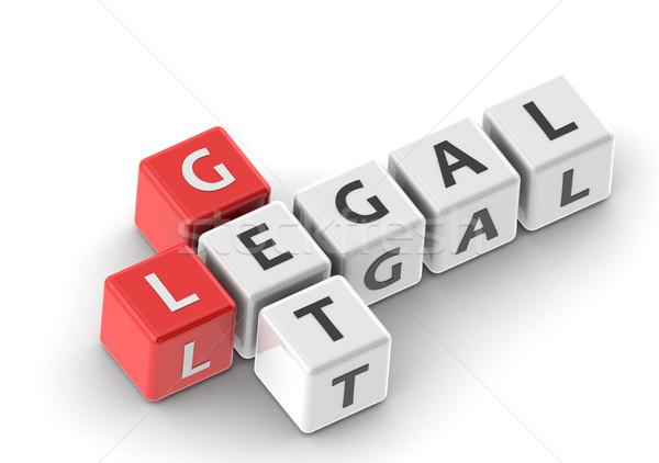 Yasal görüntü render kullanılmış grafik tasarım Stok fotoğraf © tang90246