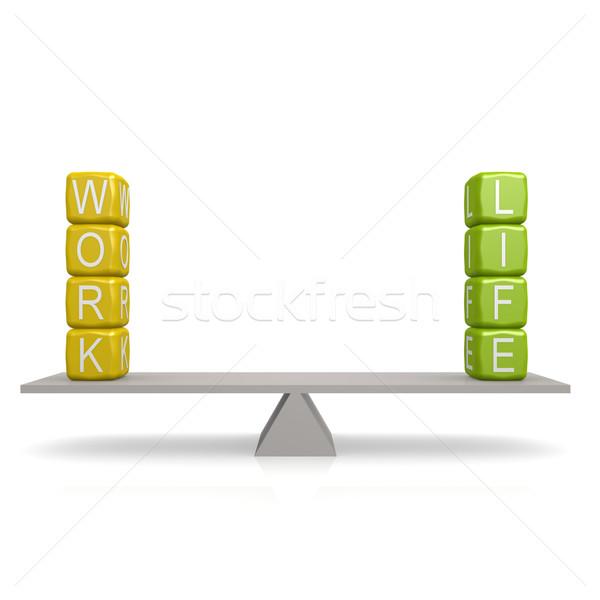 Work life balance buzzword Stock photo © tang90246