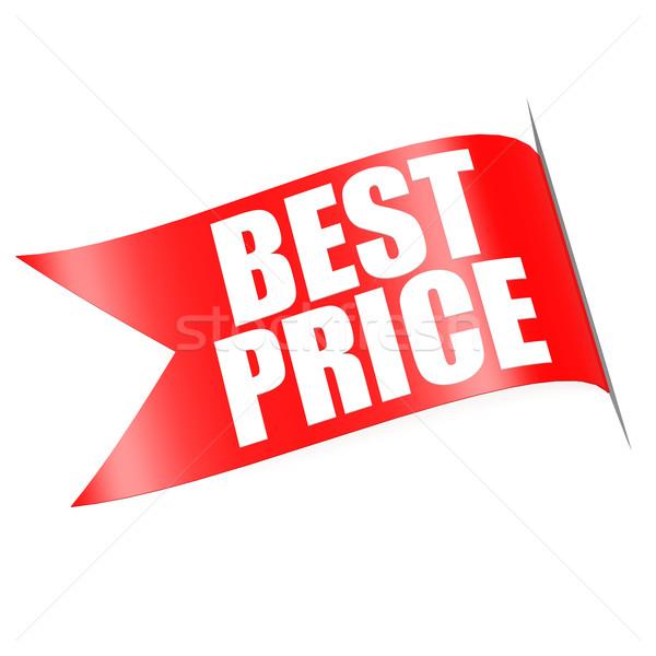 Legjobb ár piros címke terv háló bolt Stock fotó © tang90246