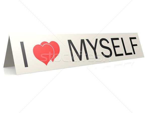 Stock photo: I love myself