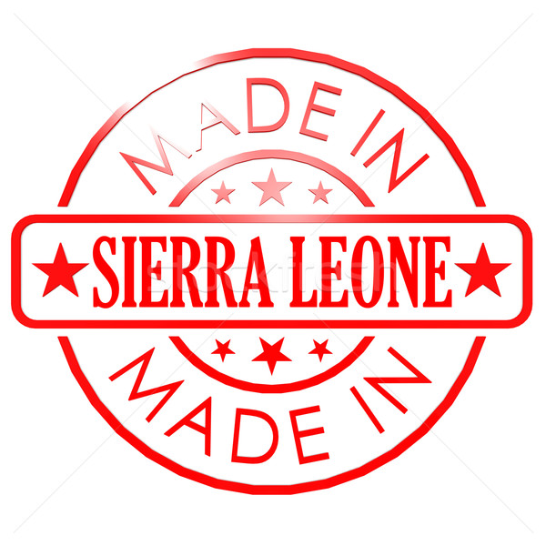 Made in Sierra Leone red seal Stock photo © tang90246
