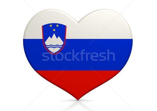 Slovenia cuore sfondo viaggio paese concetto Foto d'archivio © tang90246