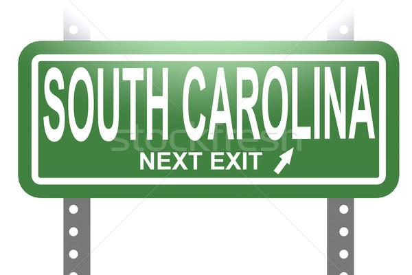 サウスカロライナ州 緑 にログイン ボード 孤立した 画像 ストックフォト © tang90246