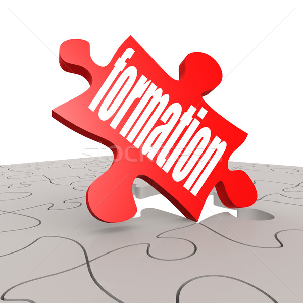 Formation word with puzzle background Stock photo © tang90246