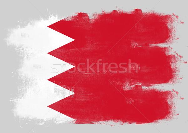 Bandeira Bahrein pintado escove sólido abstrato Foto stock © tang90246