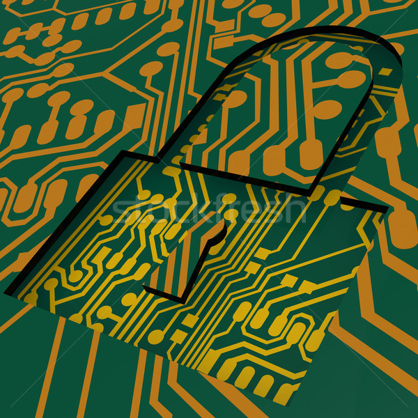 PCB and lock Stock photo © tang90246