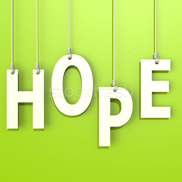 Remény szó zöld szöveg Stock fotó © tang90246