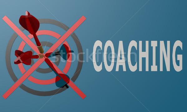 Dart board blue coaching Stock photo © tang90246