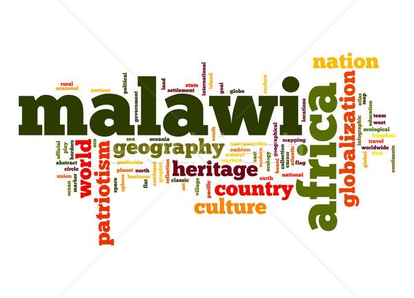 Malawi woordwolk business wereld afrika wolk Stockfoto © tang90246
