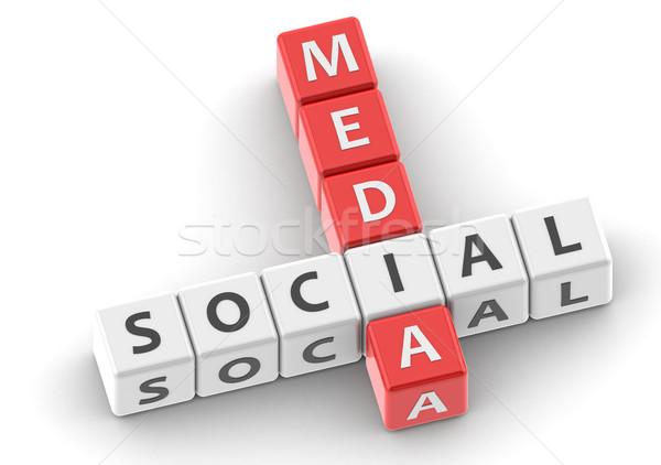 Buzzwords social media Stock photo © tang90246
