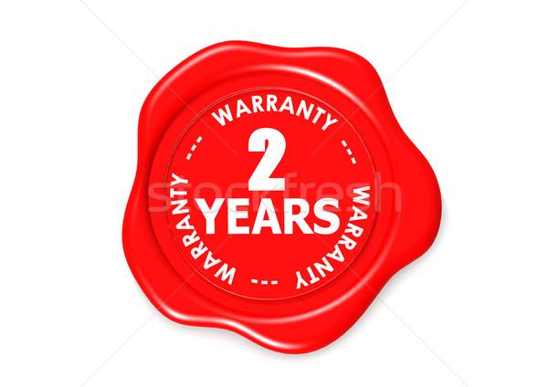 Dos año garantía sello imagen prestados Foto stock © tang90246