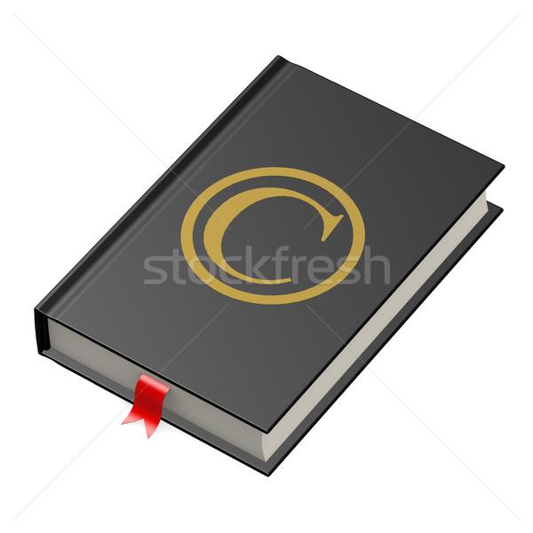 Szerzői jog könyv bőr információ nyomtatás út Stock fotó © tang90246