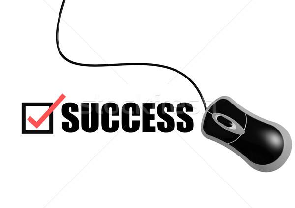Successo mouse mano internet lavoro segno Foto d'archivio © tang90246