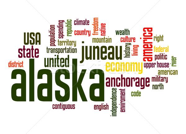 Alaska nuage de mots nuage liberté histoire graphique Photo stock © tang90246