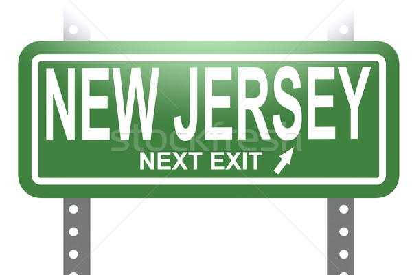 New Jersey groene teken boord geïsoleerd afbeelding Stockfoto © tang90246