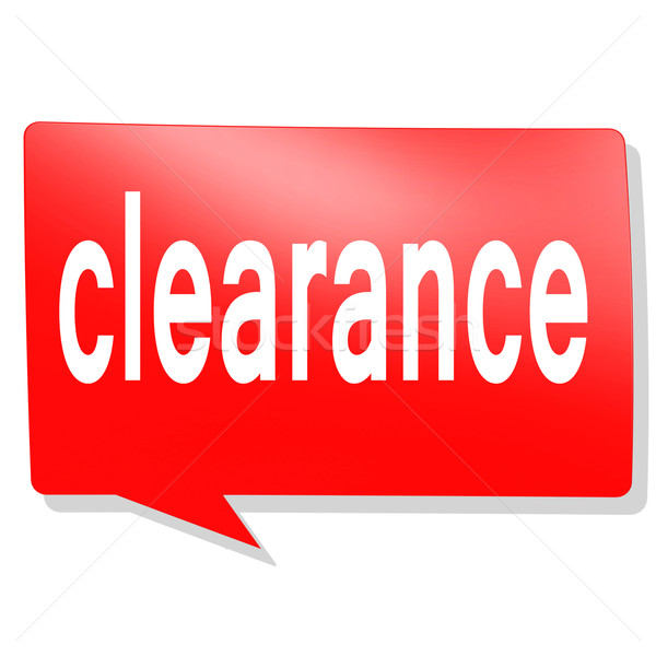 Clearance word on red speech bubble Stock photo © tang90246