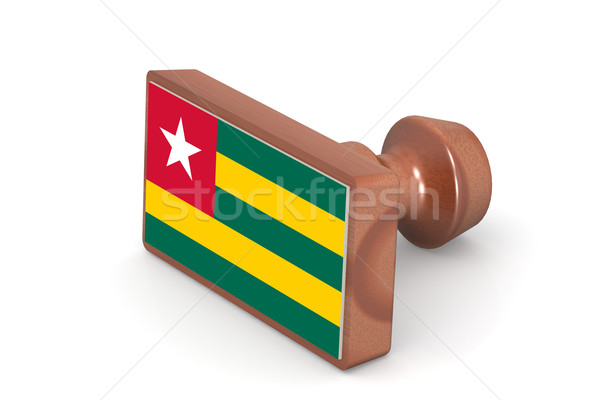 Wooden stamp with Togo flag Stock photo © tang90246