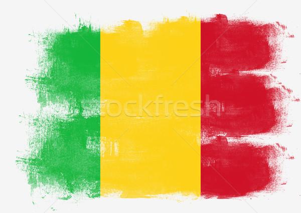 Bayrak Mali boyalı fırçalamak katı soyut Stok fotoğraf © tang90246