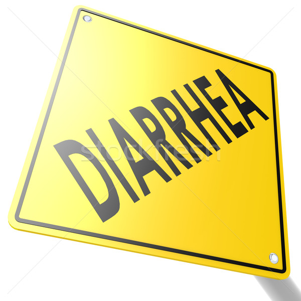 Road sign with diarrhea Stock photo © tang90246