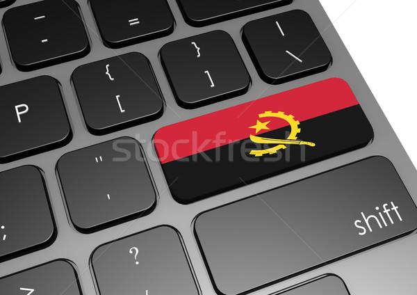 Ангола клавиатура изображение оказанный используемый Сток-фото © tang90246