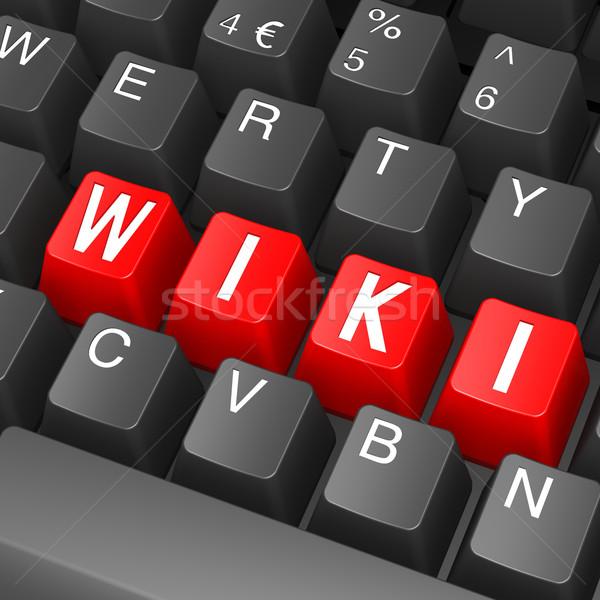 Preto teclado wiki palavra computador tecnologia Foto stock © tang90246