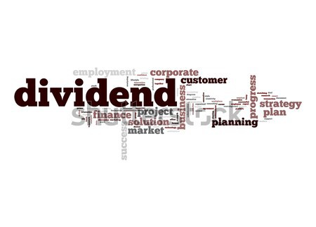 Dividendo word cloud business nube bordo stock Foto d'archivio © tang90246