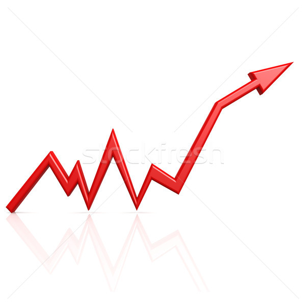 Graph up red arrow Stock photo © tang90246