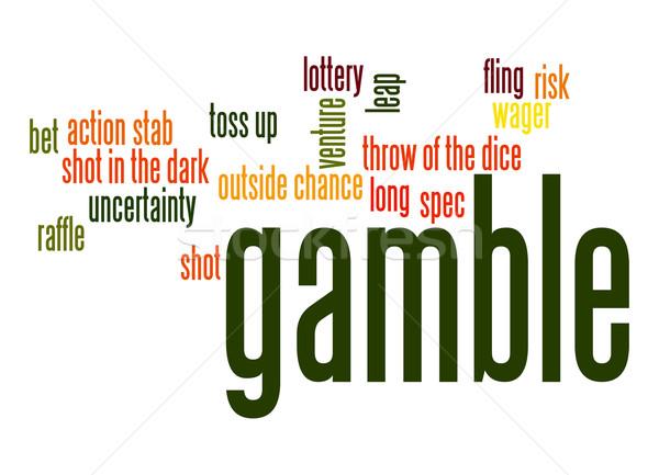 Gamble word cloud Stock photo © tang90246