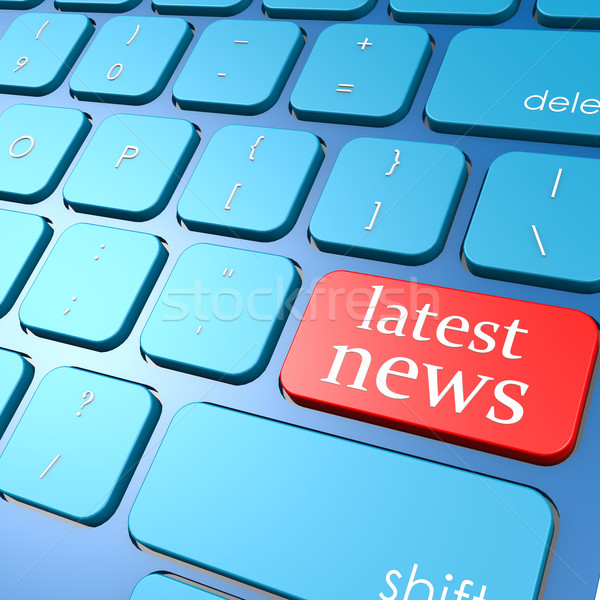 Latest news keyboard Stock photo © tang90246