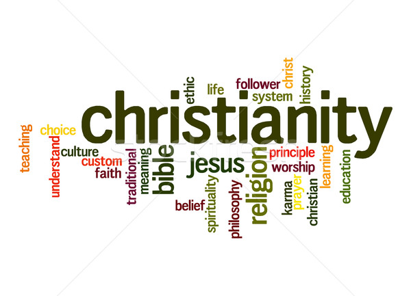 Christianity word cloud Stock photo © tang90246