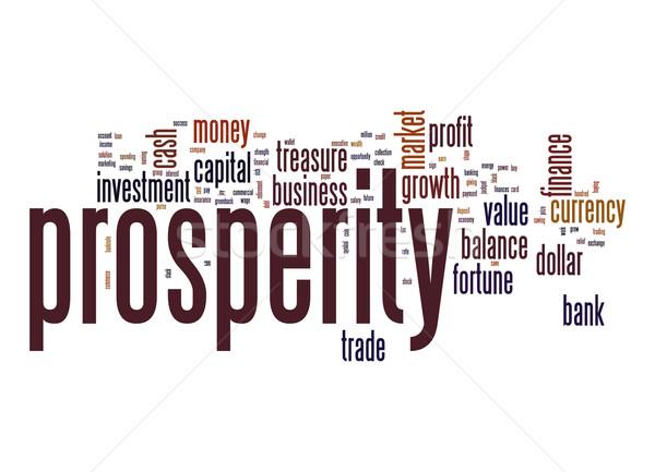 Prosperity word cloud Stock photo © tang90246