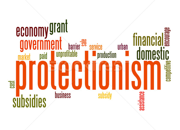 Protectionism word cloud Stock photo © tang90246