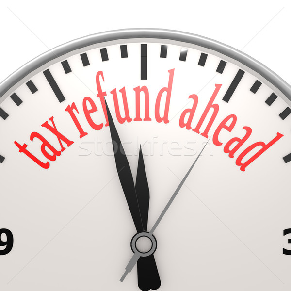 Tax refund ahead clock Stock photo © tang90246