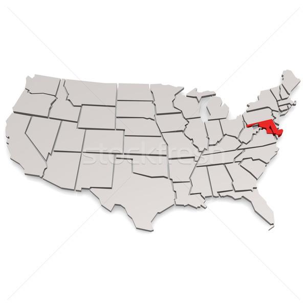 Мэриленд изображение оказанный используемый графического дизайна Сток-фото © tang90246