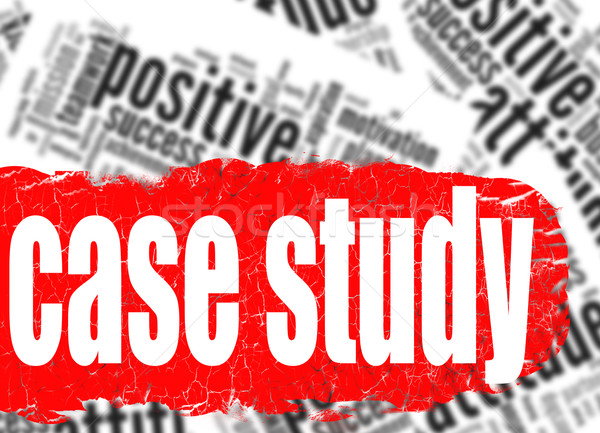 Word cloud case study Stock photo © tang90246