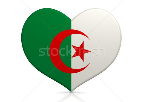 Algérie coeur fond Voyage pays concept Photo stock © tang90246