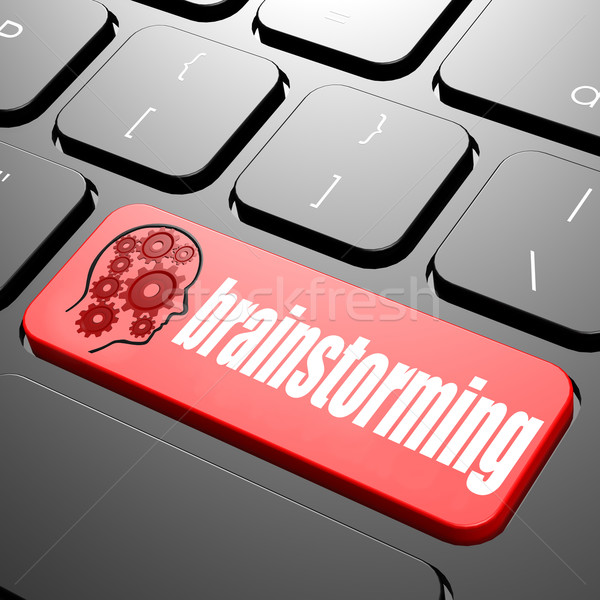 Keyboard with brainstorming text Stock photo © tang90246