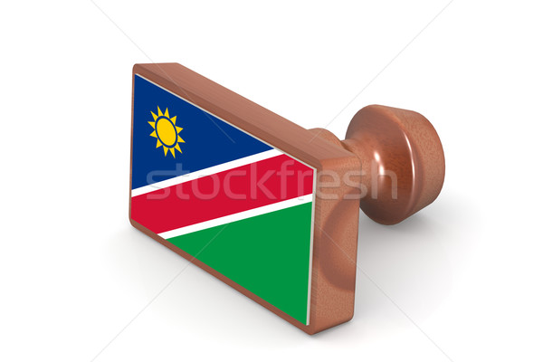 Wooden stamp with Namibia flag Stock photo © tang90246
