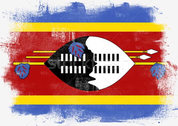 Banderą Suazi malowany szczotki solidny streszczenie Zdjęcia stock © tang90246