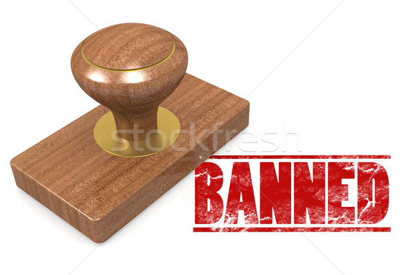 Banned wooded seal stamp Stock photo © tang90246