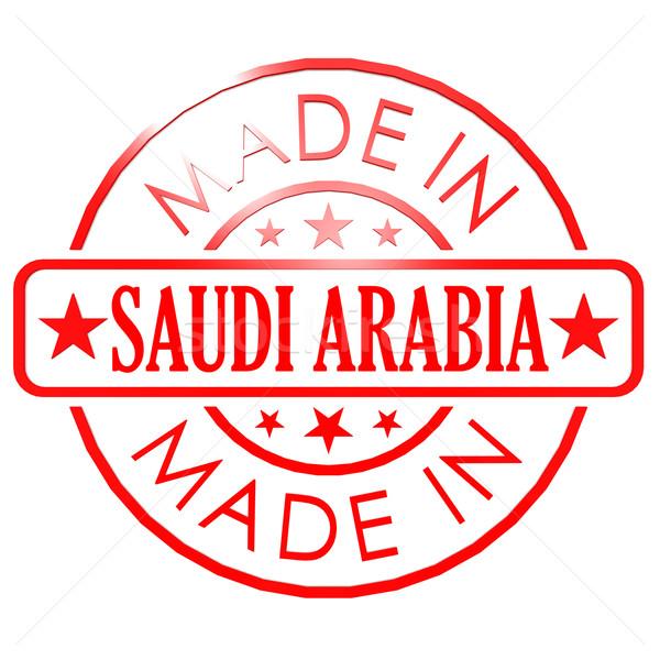 Suudi Arabistan kırmızı mühürlemek iş kâğıt soyut Stok fotoğraf © tang90246