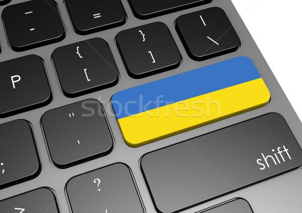 Ukrajna billentyűzet kép renderelt mű használt Stock fotó © tang90246