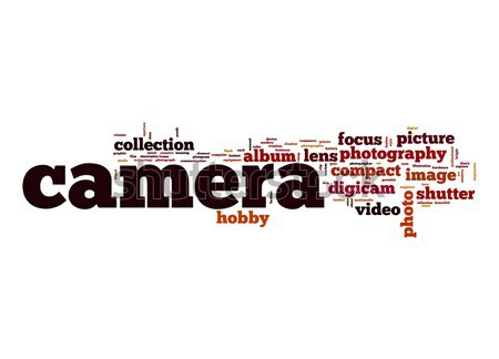 Camera word cloud Stock photo © tang90246