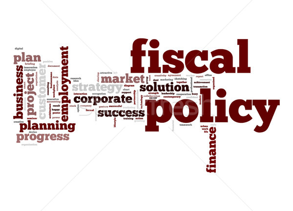 Fiscal policy word cloud Stock photo © tang90246